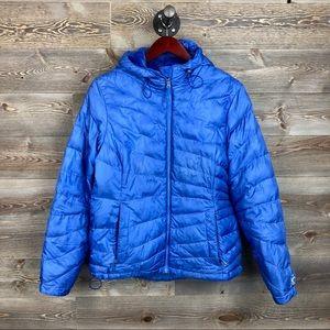 LL Bean Blue Puffer Coat
